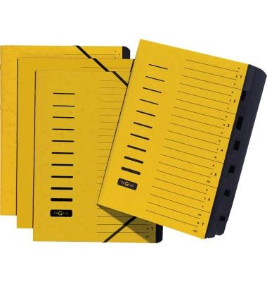 Ordnungsmappen A4 gelb 7 Fächer mit Eckspanngummi