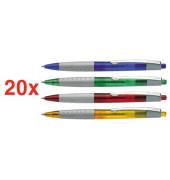 LOOX farbsortiert Schreibfarbe blau Kugelschreiber 20 Stück 0,5mm