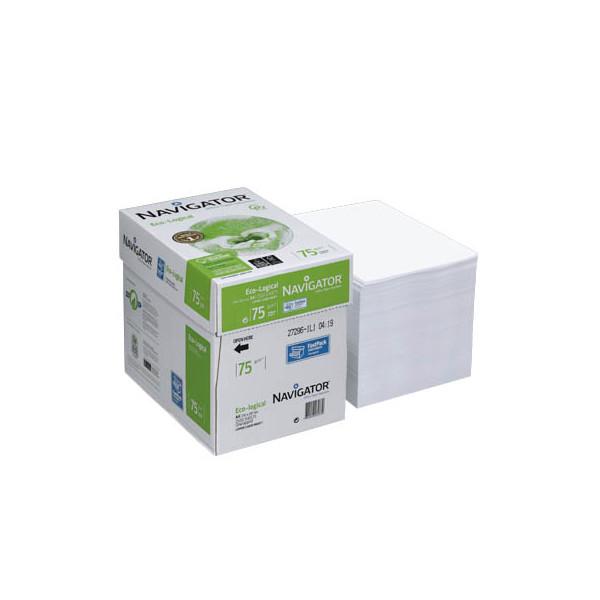 navigator eco logical a4 75g kopierpapier wei 2500 blatt 1 karton. Black Bedroom Furniture Sets. Home Design Ideas