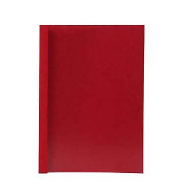Thermobindemappen Lederstruktur 4,0mm Rückenbreite rot 30-40 Blatt