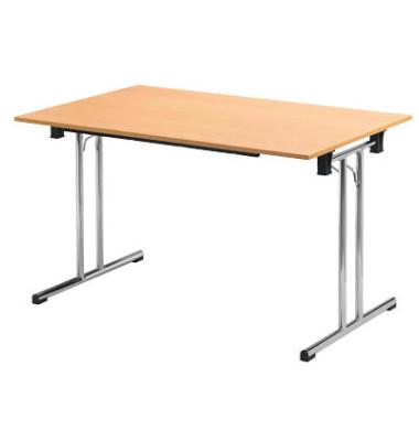 Schreibtisch TPCH147H klappbar buche rechteckig 140x70 cm (BxT)