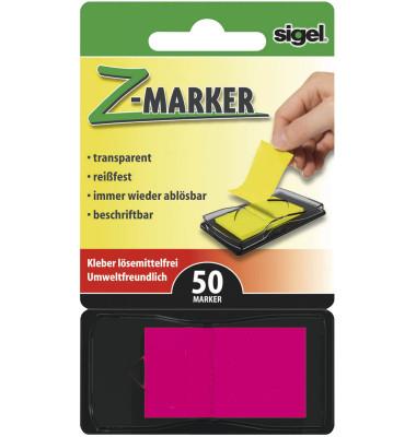 Index Haftstreifen Z-Marker neonrot