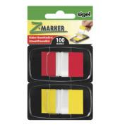 Index Haftstreifen Z-Marker im 2er Kombi-Pack rot und gelb