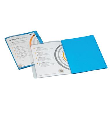 Ordnungsmappe Lucido/1400602 DIN A4 blau PP / Karton 270 g/qm