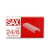 Heftklammern 1-246-00, 24/6, verzinkt, Heftleistung 25 Blatt max., 1000 Stück
