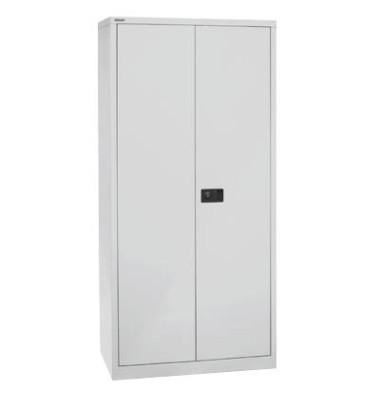 Akten-/Garderobenschrank Universal HC782S4G445, Stahl abschließbar, 5 OH, 91,4 x 195 x 50 cm, lichtgrau