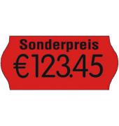 Preisetiketten 70-03M-S-035, 26x12mm, leuchtrot permanent, 18.000 Etiketten