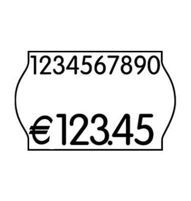 Etikettenrollen weiß ablösbar im Minipack   12 Rollen