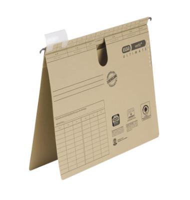 Hängehefter vertic ULTIMATE A4 240g Karton naturbraun kaufmännische Heftung 50 Stück