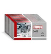 Heftklammern 040-0129, 24/6, verzinkt, Heftleistung 2-30 Blatt max., 10000 Stück