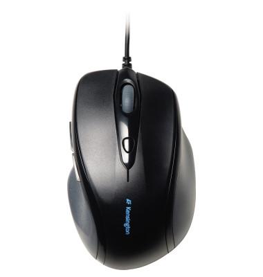 PC-Maus Pro Fit K72369EU, 5 Tasten, mit Kabel, USB-Kabel, Rechtshänder, optisch, schwarz