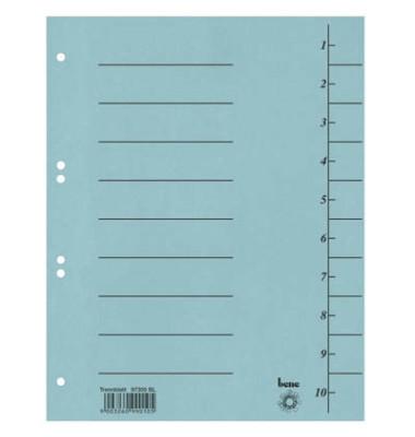 Trennblätter 97300 A4 blau 250g 100 Blatt
