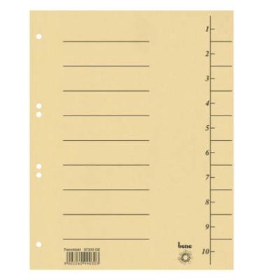 Trennblätter 97300 A4 gelb 250g 100 Blatt