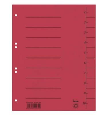 Trennblätter 97300 A4 rot 250g 100 Blatt