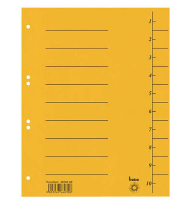 Trennblätter 98300 A4 signalgelb 210g 50 Blatt