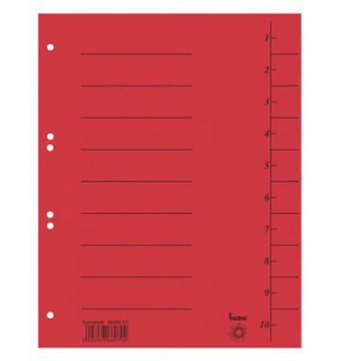 Trennblätter 98300 A4 signalrot 210g 50 Blatt