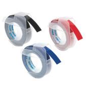 3D Plastik-Prägeband S0847750 9mm x 3m weiß/3-farben abriebfest selbstklebend 3 Stück