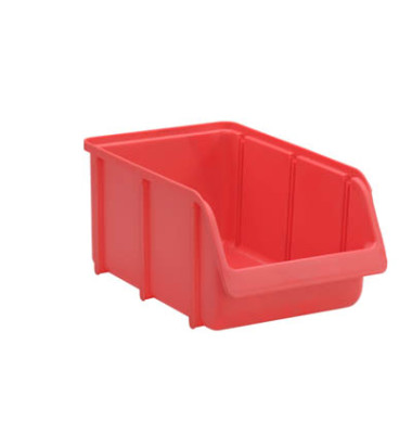 Sichtlagerkasten rot 3,6 l 205 x 335 x 155mm