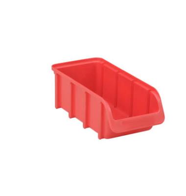 Sichtlagerkasten rot 1 Liter 102x216x74mm