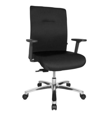 Bürodrehstuhl Big Star 10 schwarz bis 150 kg mit Armlehnen