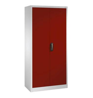 Aktenschrank abschließbar hoch  Aktenschrank 9260-000, Stahl abschließbar, 5 OH, 93 x 195 x 40 cm,  rot/lichtgrau