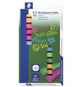 Tafelkreide 2360 farbig sortiert eckig 13x13x90mm 12 Stück