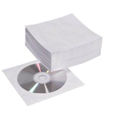 CD-Papierhüllen weiß im 50er Pack