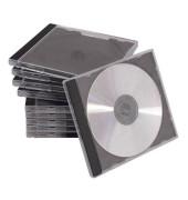 Jewel Cases schwarz-transparent für 2 CDs
