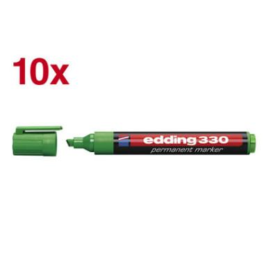 Permanentmarker 330 grün 1-5mm Keilspitze 10 Stück