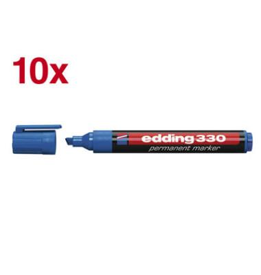 Permanentmarker 330 blau 1-5mm Keilspitze 10 Stück