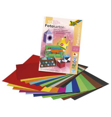 Fotokartonblock A3 farblich sortiert 300g 10 Blatt