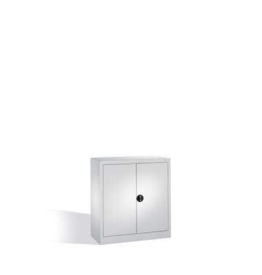 Aktenschrank 1226-50/7035, Stahl abschließbar, 2 OH, 94 x 100 x 40 cm, lichtgrau