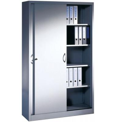 Aktenschrank 2040-00/7035, Stahl abschließbar, 5 OH, 120 x 195 x 40 cm, lichtgrau