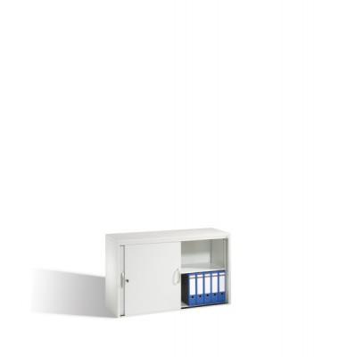 Aktenschrank 5723-00/7035, Stahl abschließbar, 2 OH, 120 x 72 x 40 cm, lichtgrau