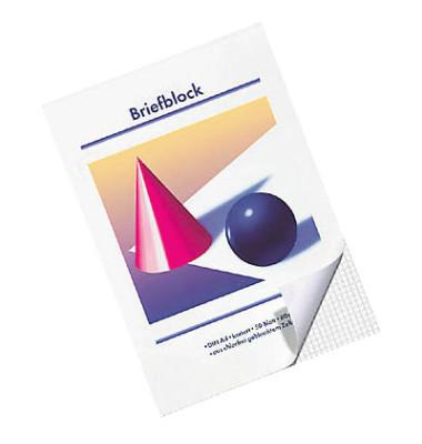 Briefblock A4 weiß kariert 50 Blatt / 10 Blöcke