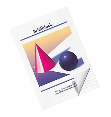 Briefblock A4 weiß liniert 50 Blatt / 10 Blöcke