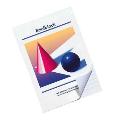 Briefblock A5 weiß liniert 50 Blatt / 10 Blöcke