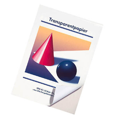 Transparentpapier 70g A3 25 Blatt