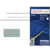 Briefumschläge Din Lang mit Fenster selbstklebend 72g weiß 25 Stück