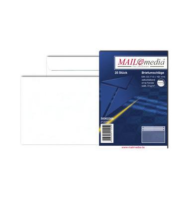 Briefumschläge C6 ohne Fenster selbstklebend 75g weiß 25 Stück