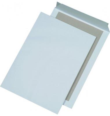 Versandtaschen B4 ohne Fenster mit Papprückwand haftklebend 120g weiß 125 Stück
