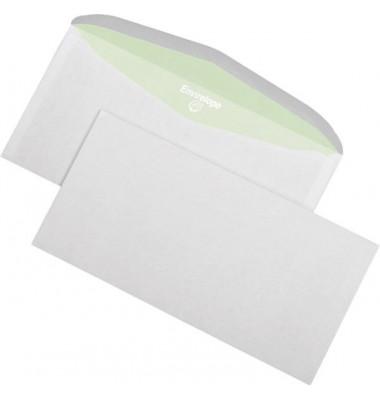 Kuvertierhüllen Envirelope C6/5 ohne Fenster nassklebend 75g weiß 1000 Stück