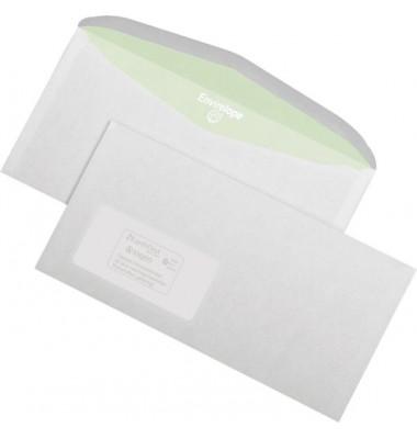 Kuvertierhüllen Envirelope C6/5 mit Fenster nassklebend 75g weiß 1000 Stück