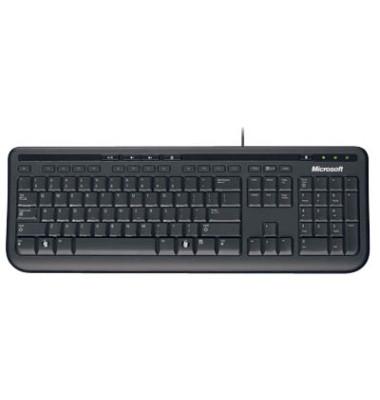 PC-Tastatur Wired Keyboard 600 ANB-00008, mit Kabel (USB), leise, Sondertasten, schwarz
