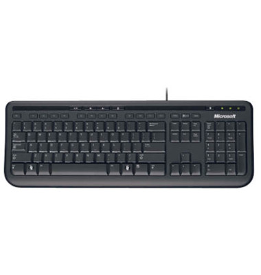 Tastatur Wired Keyboard 600 USB Kabel schwarz