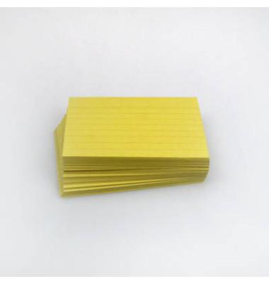 Karteikarten A7 liniert 190g gelb 100 Stück