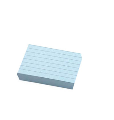 Karteikarten A7 liniert 190g blau 100 Stück