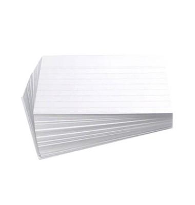 Karteikarten A6 liniert 190g weiß 100 Stück