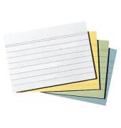 Karteikarten A6 liniert 190g gelb 100 Stück