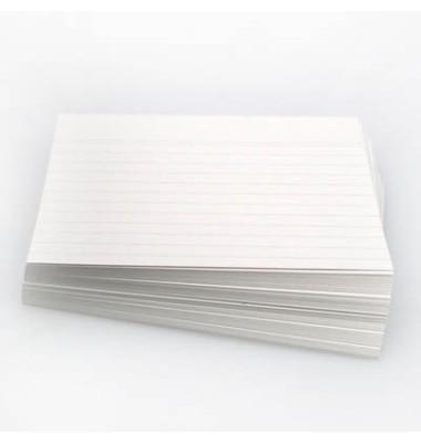 Karteikarten A5 liniert 190g weiß 100 Stück